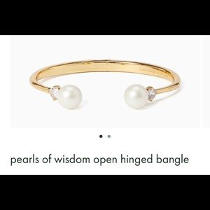 """kate spade """"Pearls of Wisdom"""" bangle 🌟SOLD OUT🌟"""